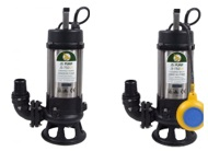 JS SK Sewage Single Channel Cutter Pumps 110v & 240v