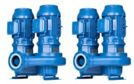 Lowara e-LNT Twin Stage In-line Pumps 2 Pole