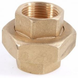 "1 1/4"" (32mm) Galvanised Brass 3 Part Union"