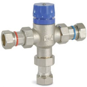 Temperature protection blending valve
