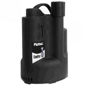 Flotec Compac 150 Submersible Water Drainage Pump With Integrated Float 110v