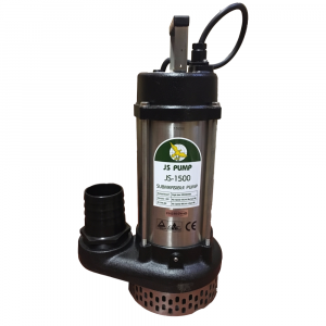 "JS 1500 MAN - 3"" Submersible Water Drainage Pump Without Float Switch 240v"