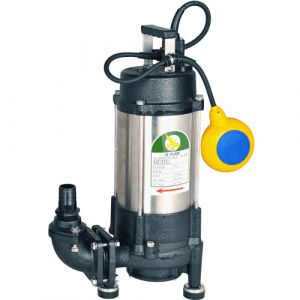 """JS GS-1200 AUTO - 1 1/4"""" Submersible Grinder Sewage Pump With Float Switch 240v"""