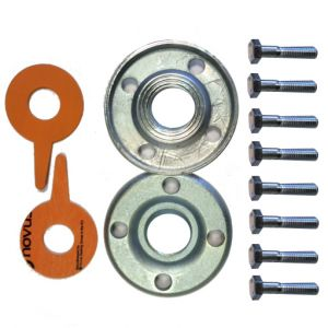 "Lowara DN100 4"" Stainless Steel Round Counterflange Threaded Kit"