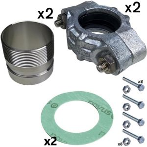 """2"""" BSPF Stainless Steel PJE Coupling Kit For CRN(E) 10/15/20 Pumps (2 sets inc)"""