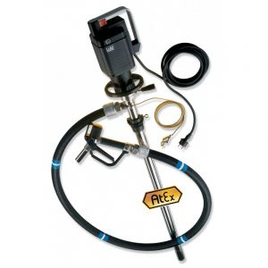 Lutz Drum Pump Set for Hazardous Fluids (Complete Drum Drainage) MD-2xl Air Motor 1200mm Immersion Depth