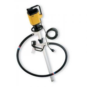 Lutz Drum Pump Set for Concentrated Acids & Alkalis MAll5 110v Motor 1200mm Immersion Depth