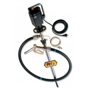 Lutz Drum Pump Set for Solvents ME ll 3 110v Motor 1200mm Immersion Depth