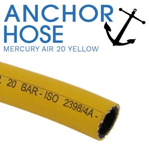 Mercury Air 20 Yellow Premium Rubber Air Hose - Cut Per Metre
