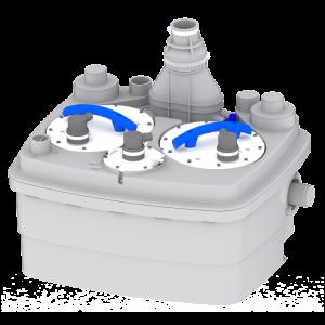 Saniflo Sanicubic 2 Classic Heavy Duty Macerator for Wall Hung Toilet, Basin, Bath, Bidet and Multiple Grey Water Appliances 240V