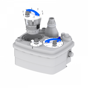 Saniflo Sanicubic 2 Pro Heavy Duty Macerator for Toilet, Basin, Bath, Bidet and Multiple Grey Water Appliances 240V
