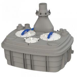 Saniflo Sanicubic 2 XL Heavy Duty Macerator for Toilet, Basin, Bath, Bidet and Multiple Grey Water Appliances 415v