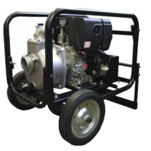 "Koshin SE-80XDHR - 3"" Inch Diesel Powered Centrifugal Recoil Start Pump with Wheel Kit"
