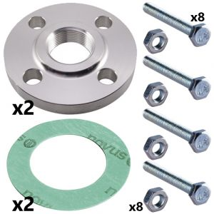 3 Inch Stainless Steel Threaded Flange Set for CRN(E) 45 Pumps (2 sets inc)