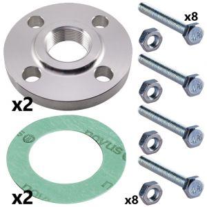 80mm Threaded Flange Set for CRI(E) 45 Pumps (2 sets inc)