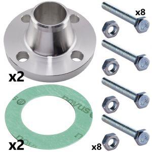 80mm Weld Neck Flange Set for CRI(E) 45 Pumps (2 sets inc)