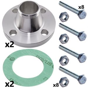80mm Stainless Steel Weld Neck Flange Set for CRN(E) 45 Pumps (2 sets inc)
