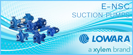 Lowara e-NSC 4 Pole End Suction Pumps