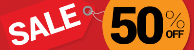 50pc Off Sale Promotion