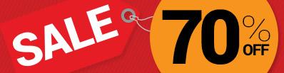 70pc Off Sale Promotion