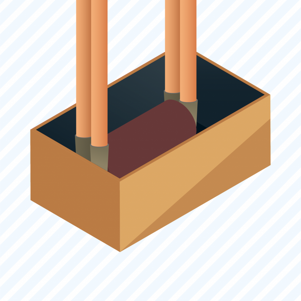 graphic showing a user how to build a sound insulating foam box