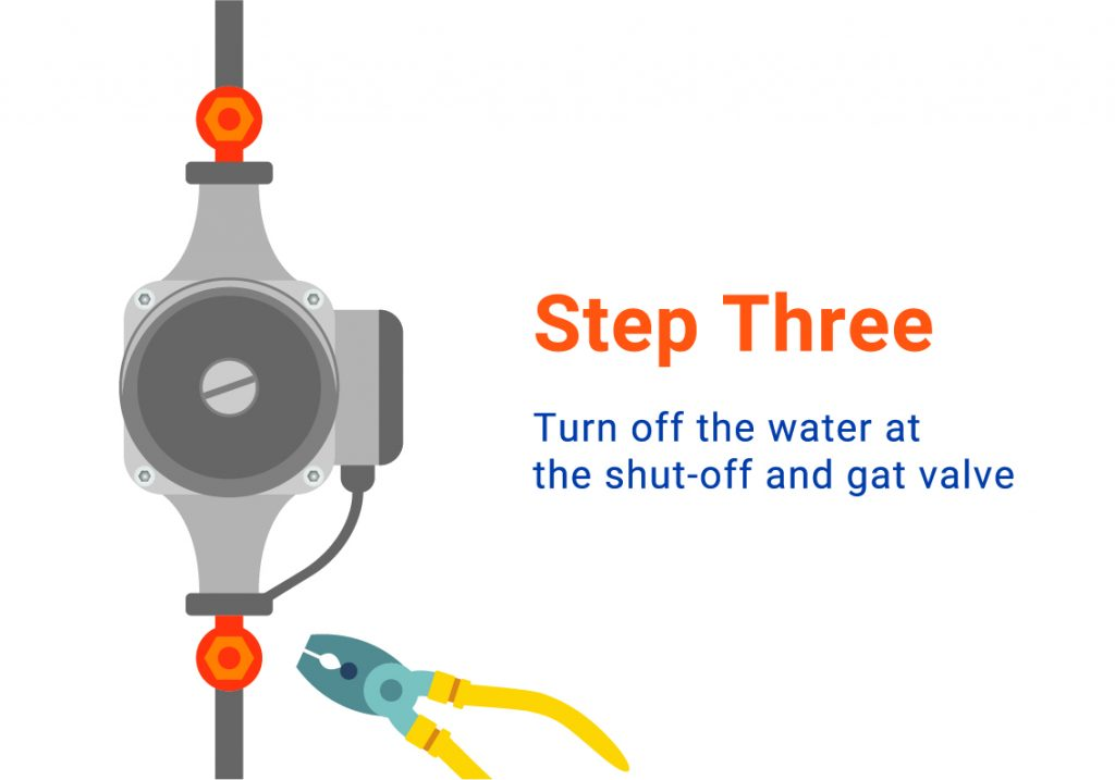 diagram showing you how to bleed a central heating pump