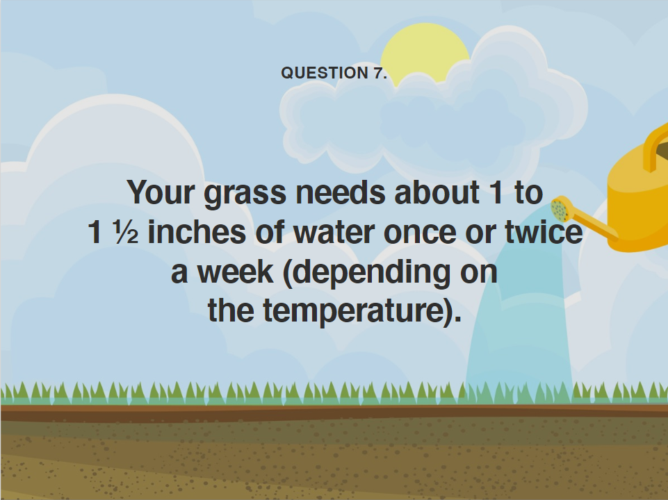 image showing you how much water needs to be added to a lawn during a heatwave