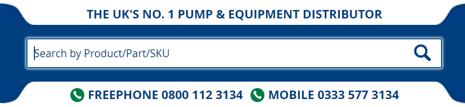 image showing you where to find the search bar on the Anchor Pumps website