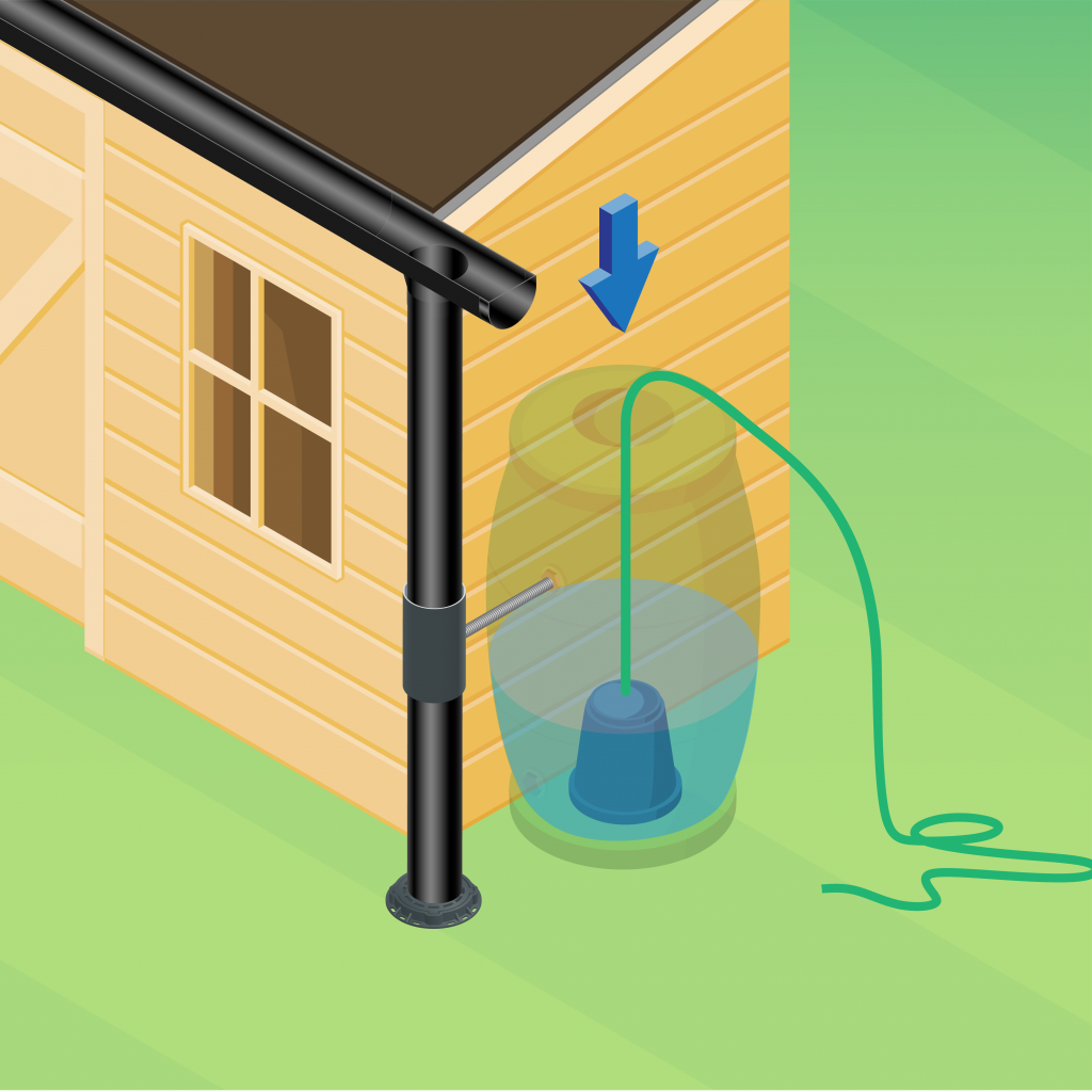 image showing you how to install a water butt pump