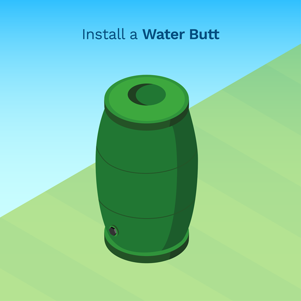graphic showing a simple picture of a water butt