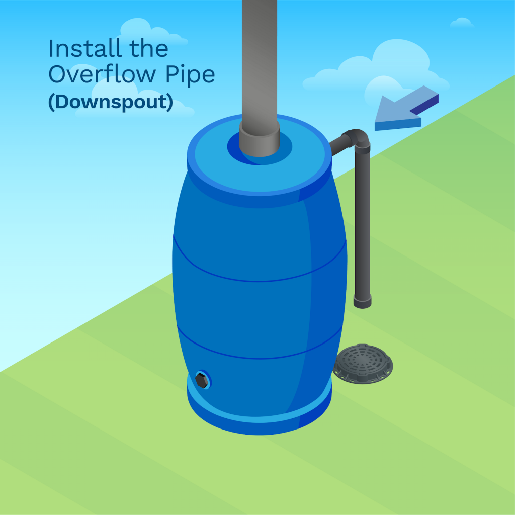 image showing you how to install the overflow pipe