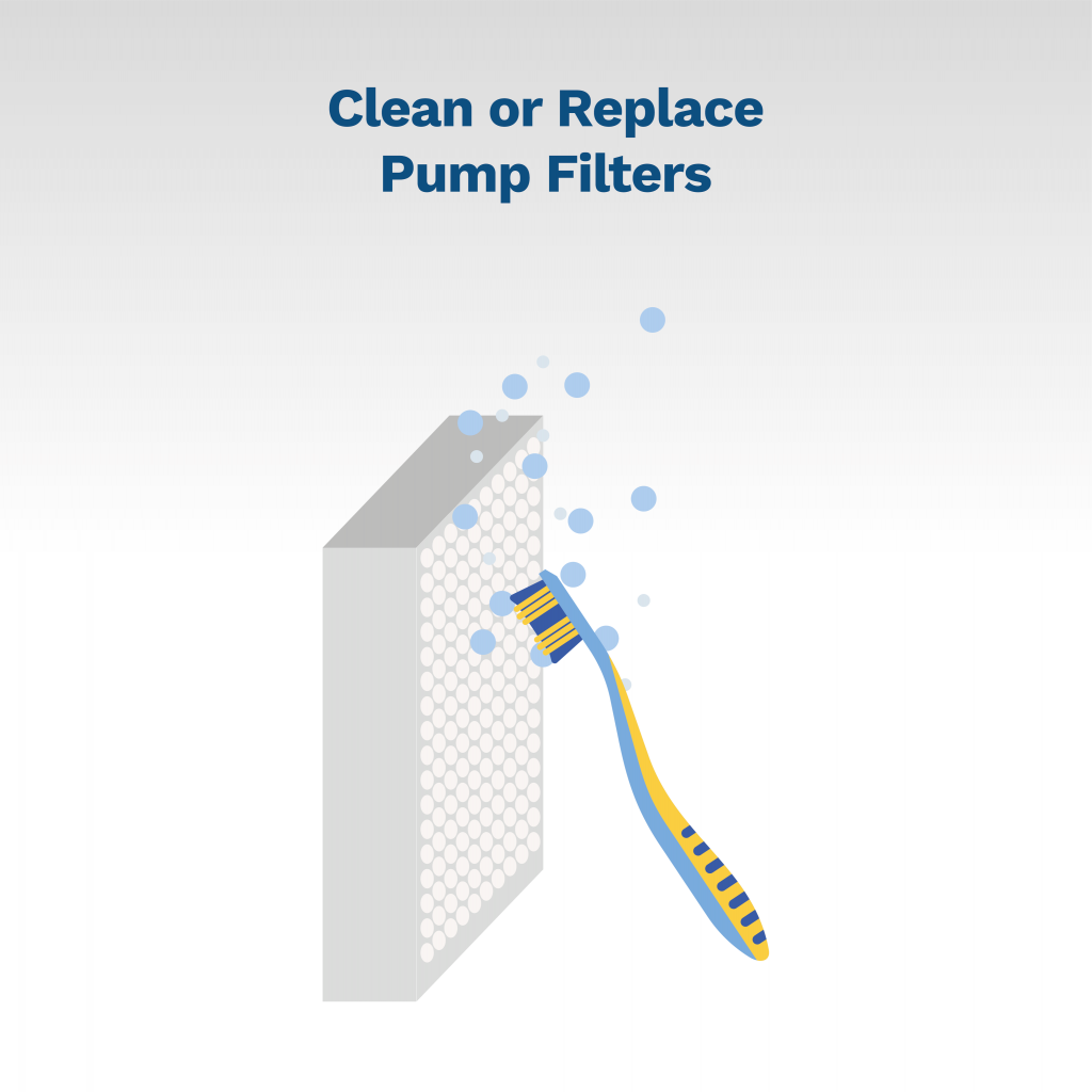 image showing you how to clean pump filters