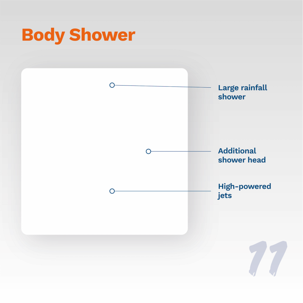 image showing typical body shower design