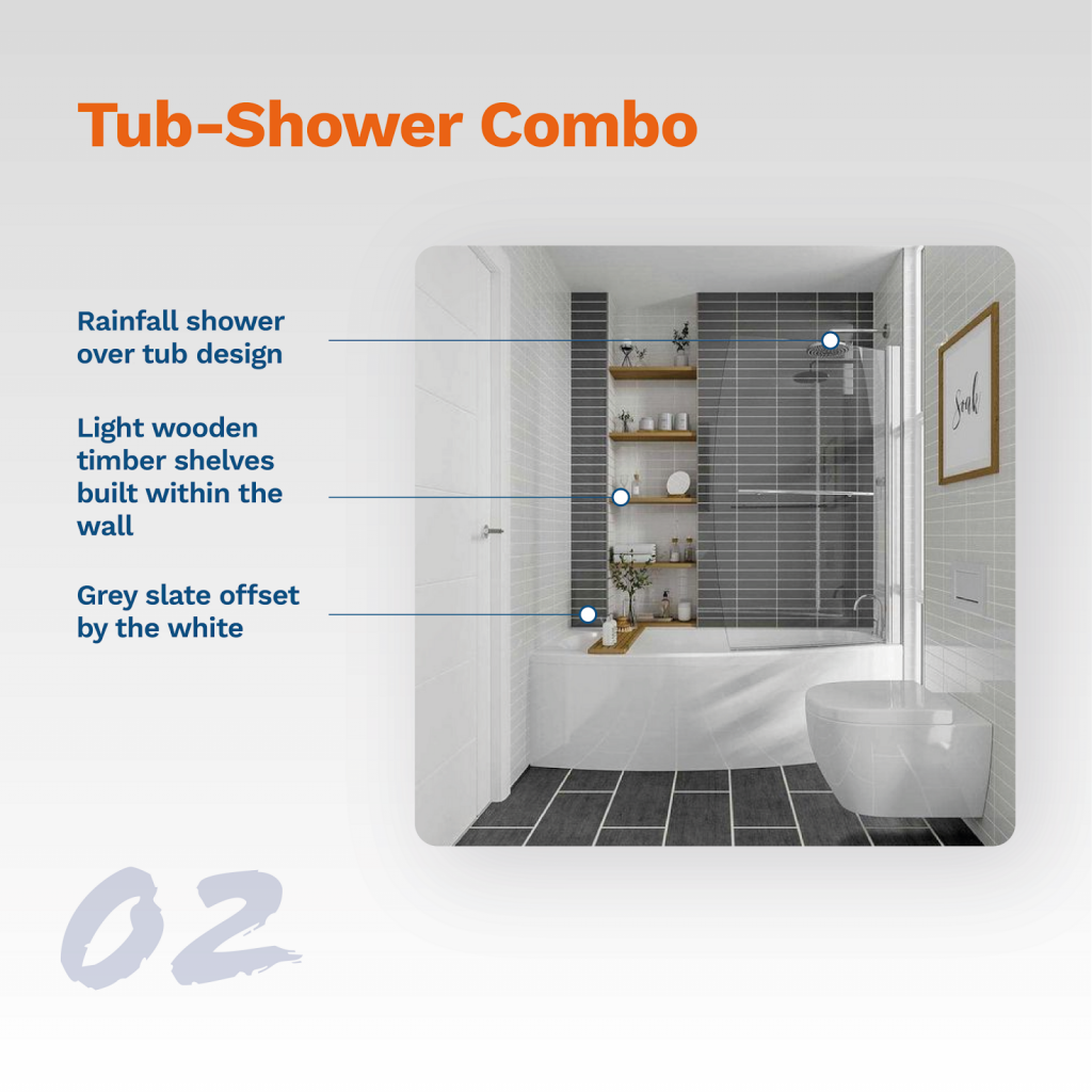 image showing typical tub-shower combo